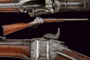 A 1859 Sharps New Model Carbine converted to metallic cartridge
