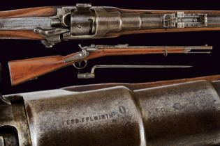 An 1867/77 model Werndl carbine with bayonet