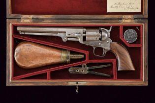 A cased Colt 1851 Navy Revolver