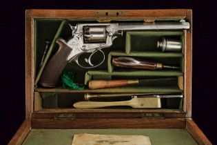 A cased Tranter percussion revolver by John Blanch & Son