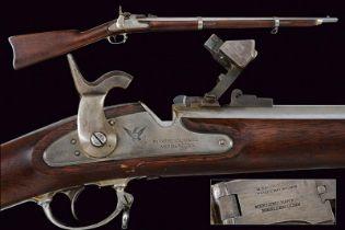 A 1861 model Miller 58 Caliber Conversion breech loading rifle