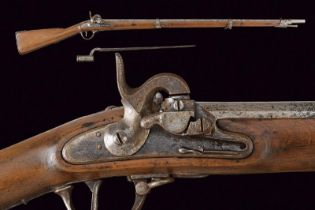 An infantry 1842 model Augustin musket with bayonet
