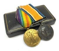 WW1 pair of medals comprising British War Medal and Victory Medal awarded to 151870 Gnr. J.W. Wass R