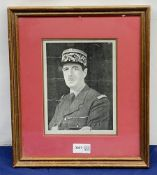 Charles De Gaulle, signed photograph, head and shoulder portrait in uniform wearing oak leaf decorat