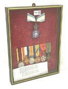 Group of seven medals/awards to Col. Stephen Fraser Clark M.B. R.A.M.C. comprising Victoria China 19