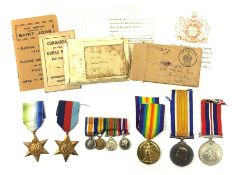 WW1 pair of medals comprising British War Medal and Victory Medal awarded to 225268.2.A.M. P.M. Newt