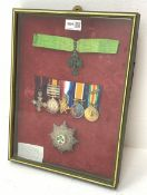 Group of seven medals/awards to Major T.B. Unwin R.A.M.C. comprising Queens South Africa Medal with