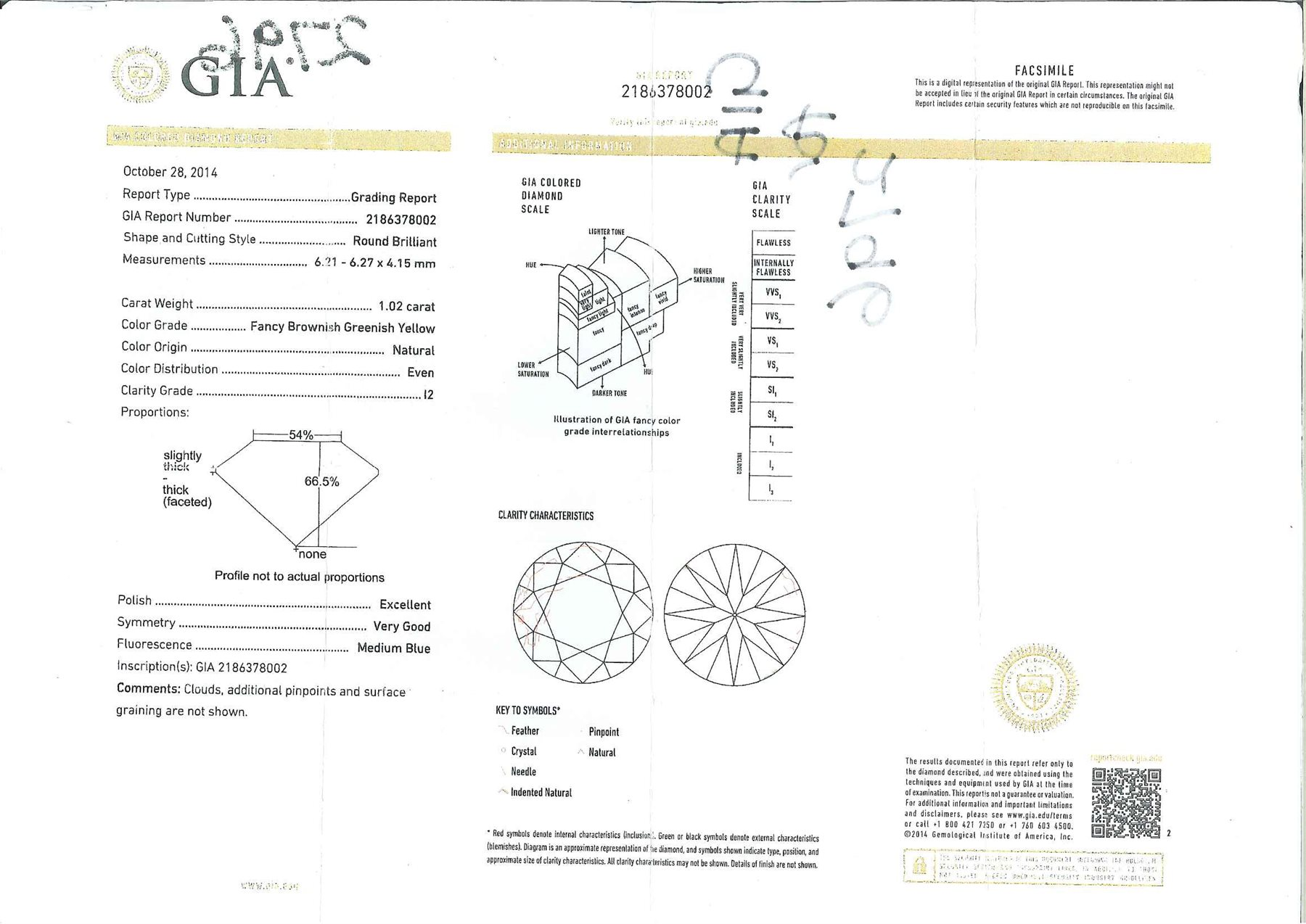 18ct white gold diamond halo ring, the central round brilliant cut fancy yellow diamond of 1.02 cara - Image 6 of 6