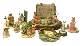 A collection of Beatrix Potter related Border Fine Arts figures, comprising limited edition Beatrix