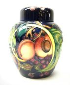 A Moorcroft ginger jar and cover, decorated in the Queen's Choice pattern by Emma Bossons, with impr