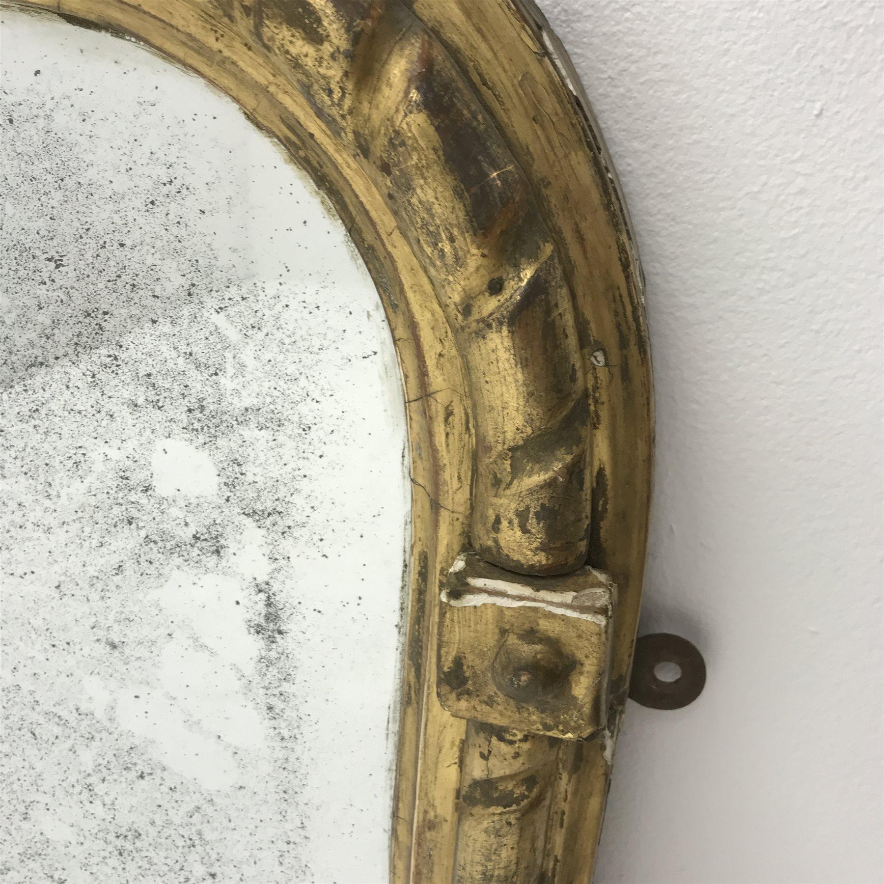 19th century gilt framed overmantle mirror, W122cm, H94cm - Image 3 of 4