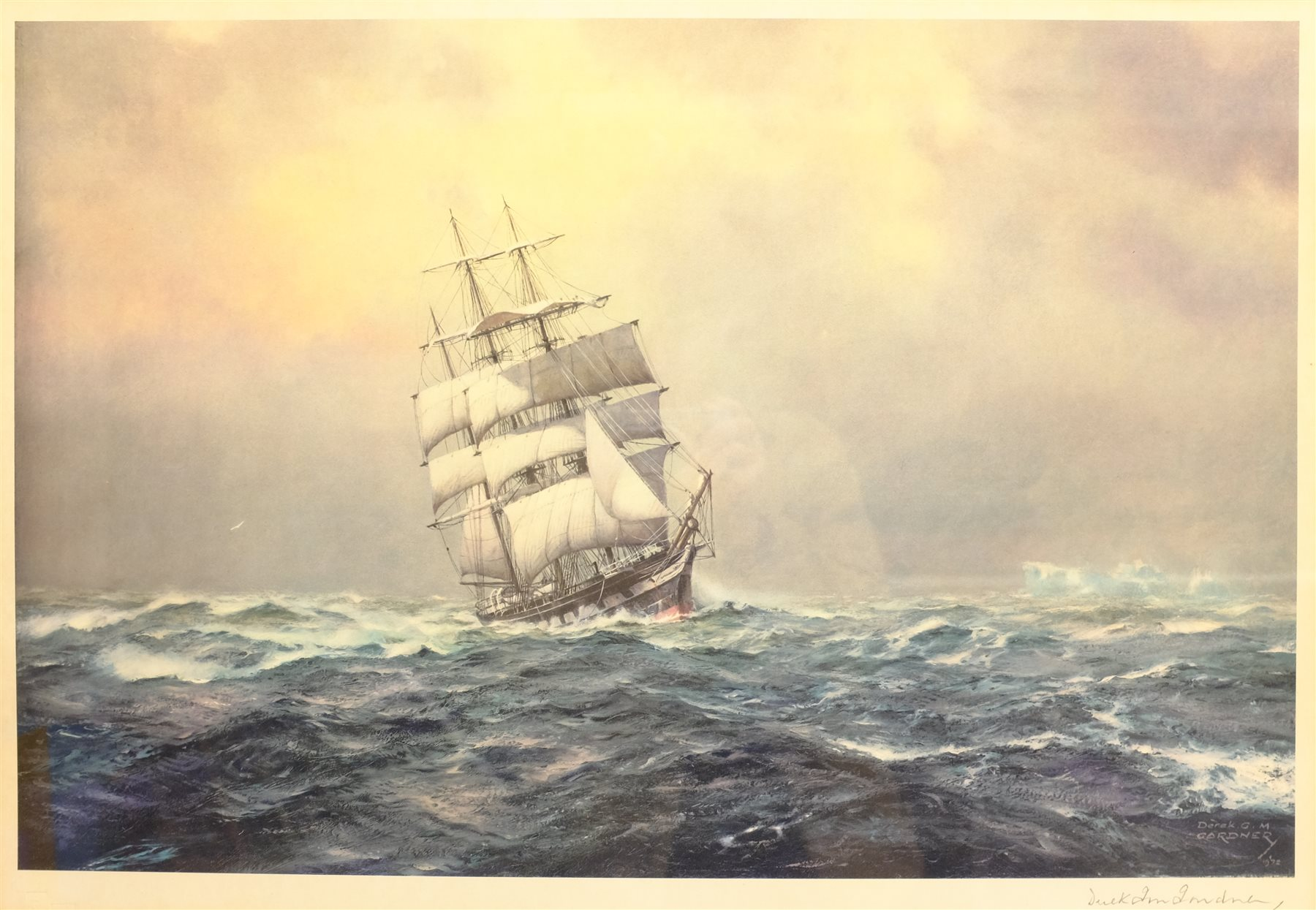After Derek George Montague Gardner (British 1914-2007): Fifty South and Ice to Port, limited editio - Image 2 of 4