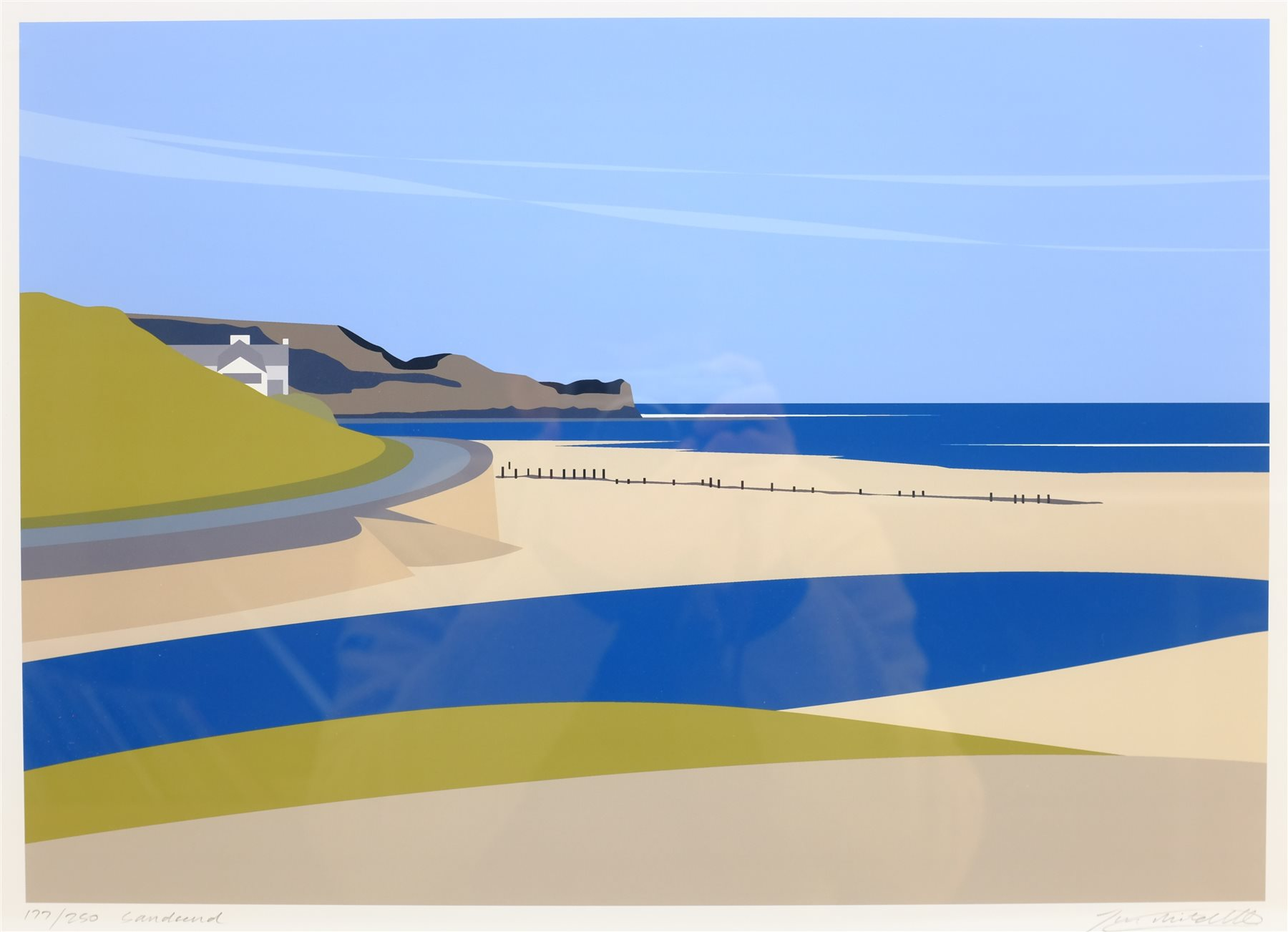 Ian Mitchell (British Contemporary): 'Sandsend', limited edition digital lithograph signed, titled a - Image 2 of 4