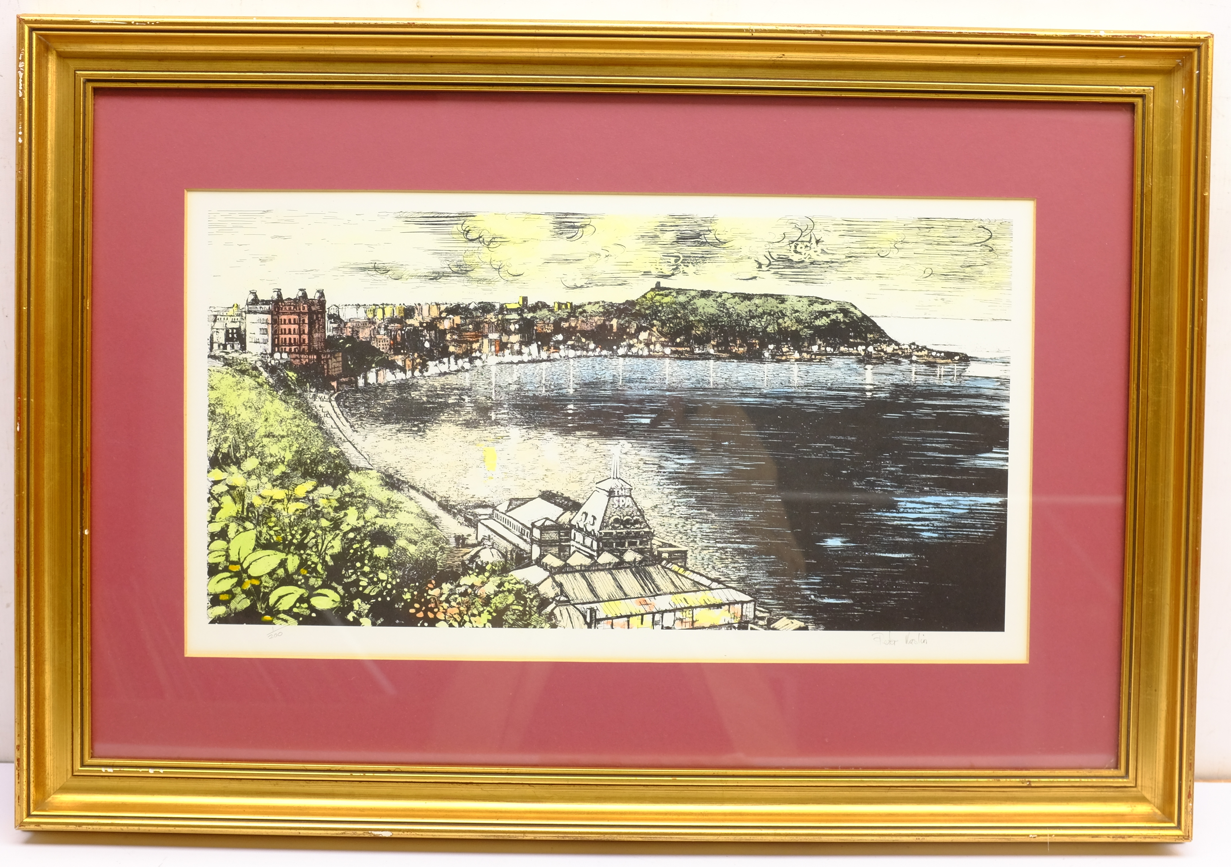 Peter Maslin (British Contemporary): The Spa and South Bay Scarborough, limited edition coloured lit - Image 6 of 8
