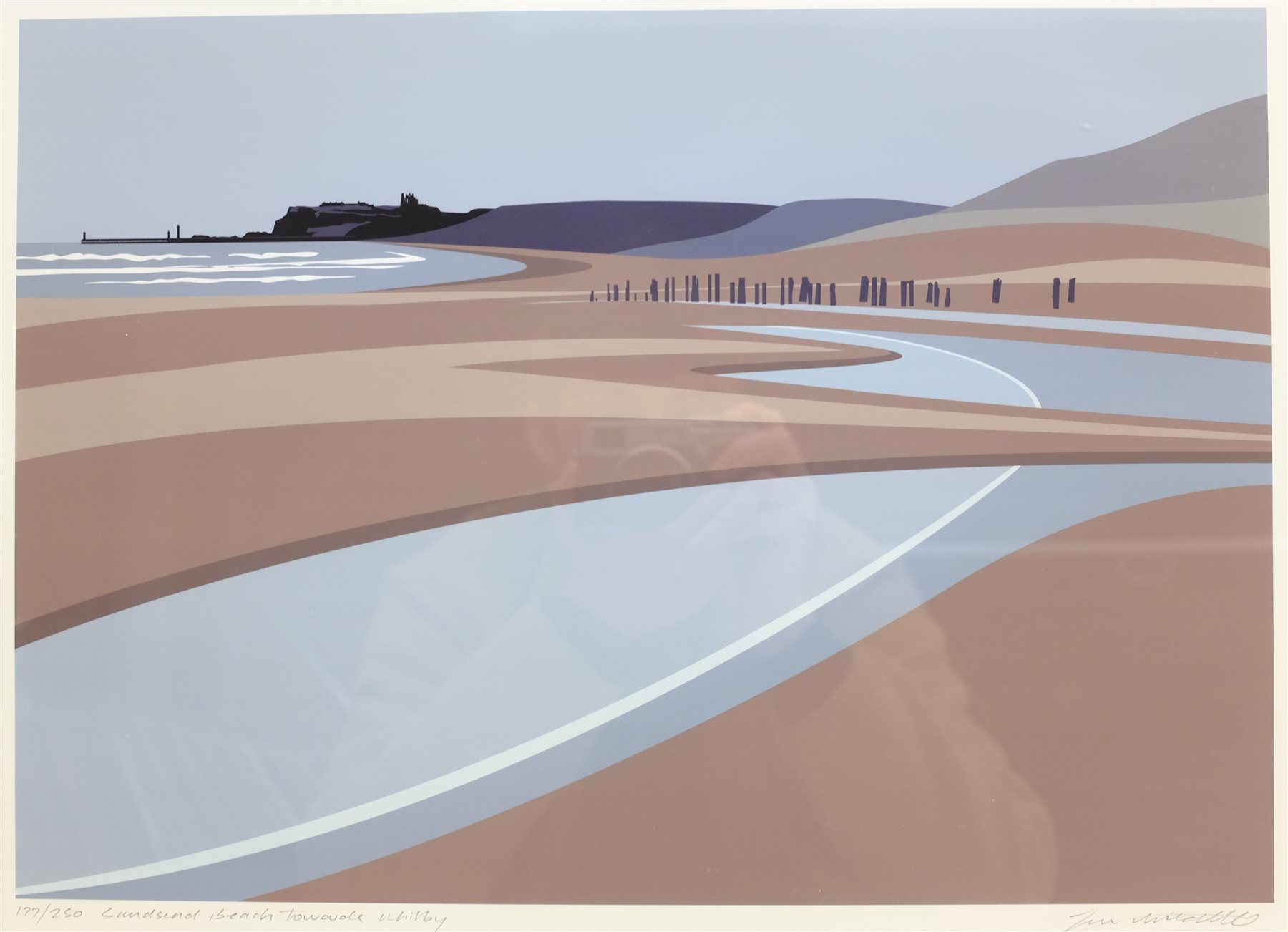 Ian Mitchell (British Contemporary): 'Sandsend Beach Towards Whitby', limited edition digital lithog - Image 2 of 4