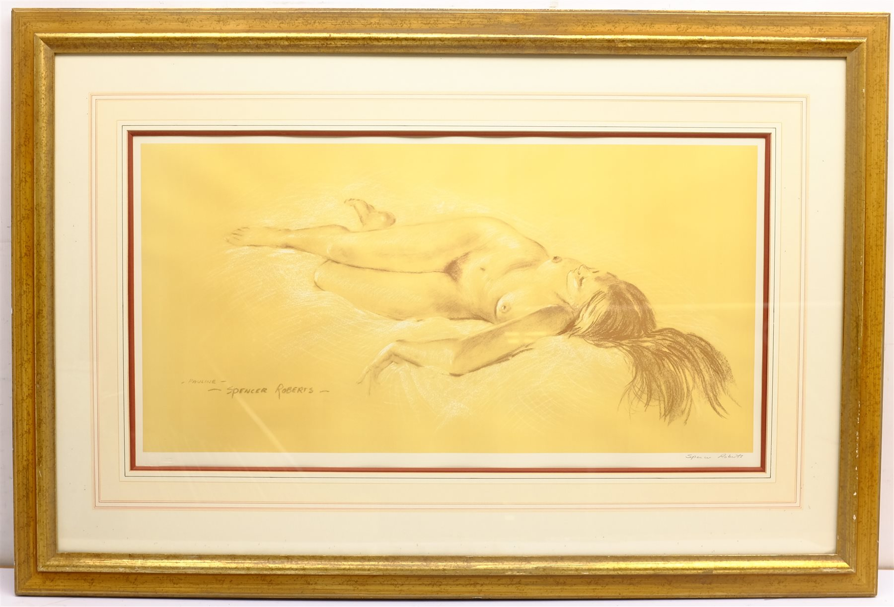 Arthur Spencer Roberts (British 1920-1997): 'Pauline', limited edition print signed in pencil with F - Image 3 of 4