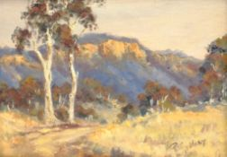 Pat Godfrey (Australian 1934-): 'Track in Megalong Valley' New South Wales, oil on board signed, tit