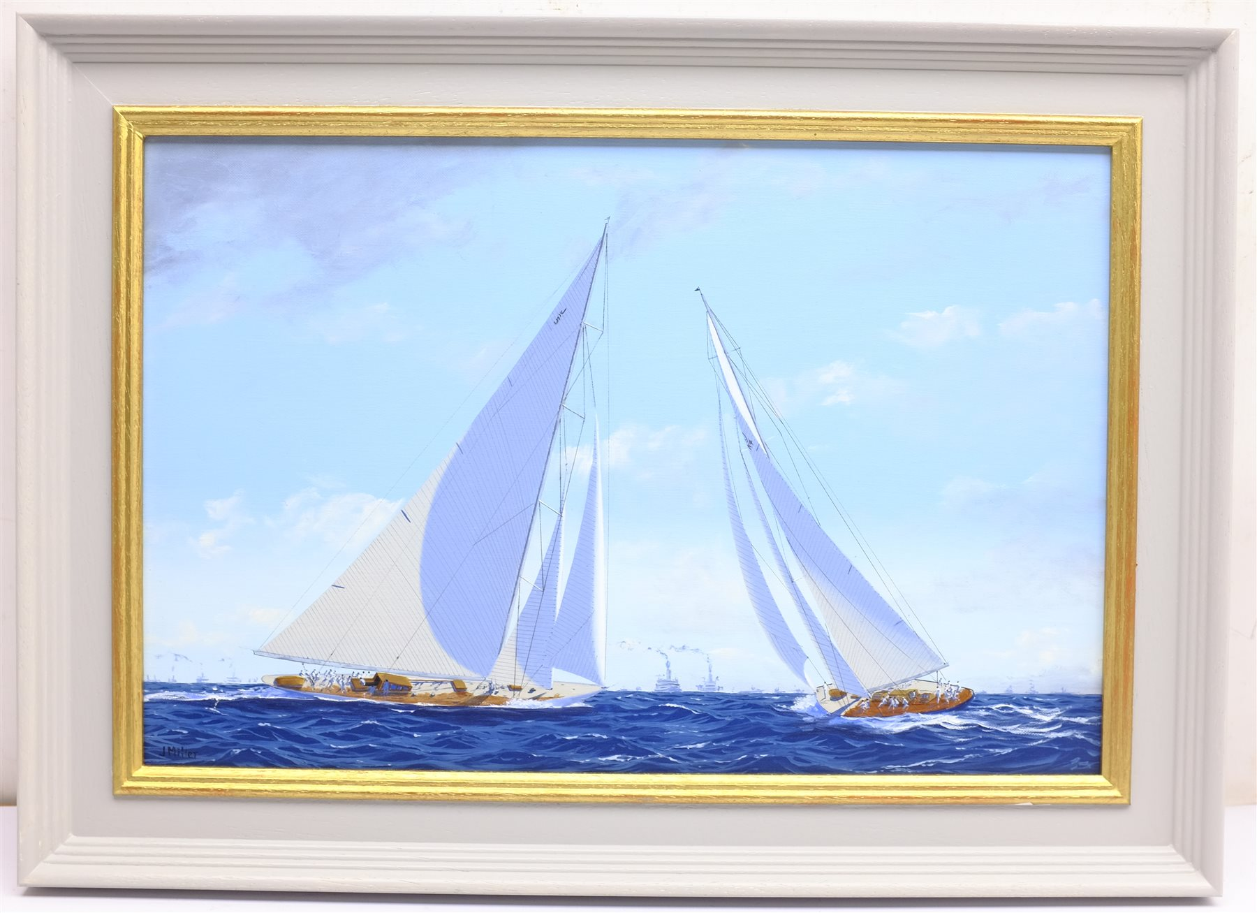 James Miller (British 1962-): 'Rainbow' & 'Endeavour' in the America's Cup Series 15th challenge 193 - Image 3 of 4