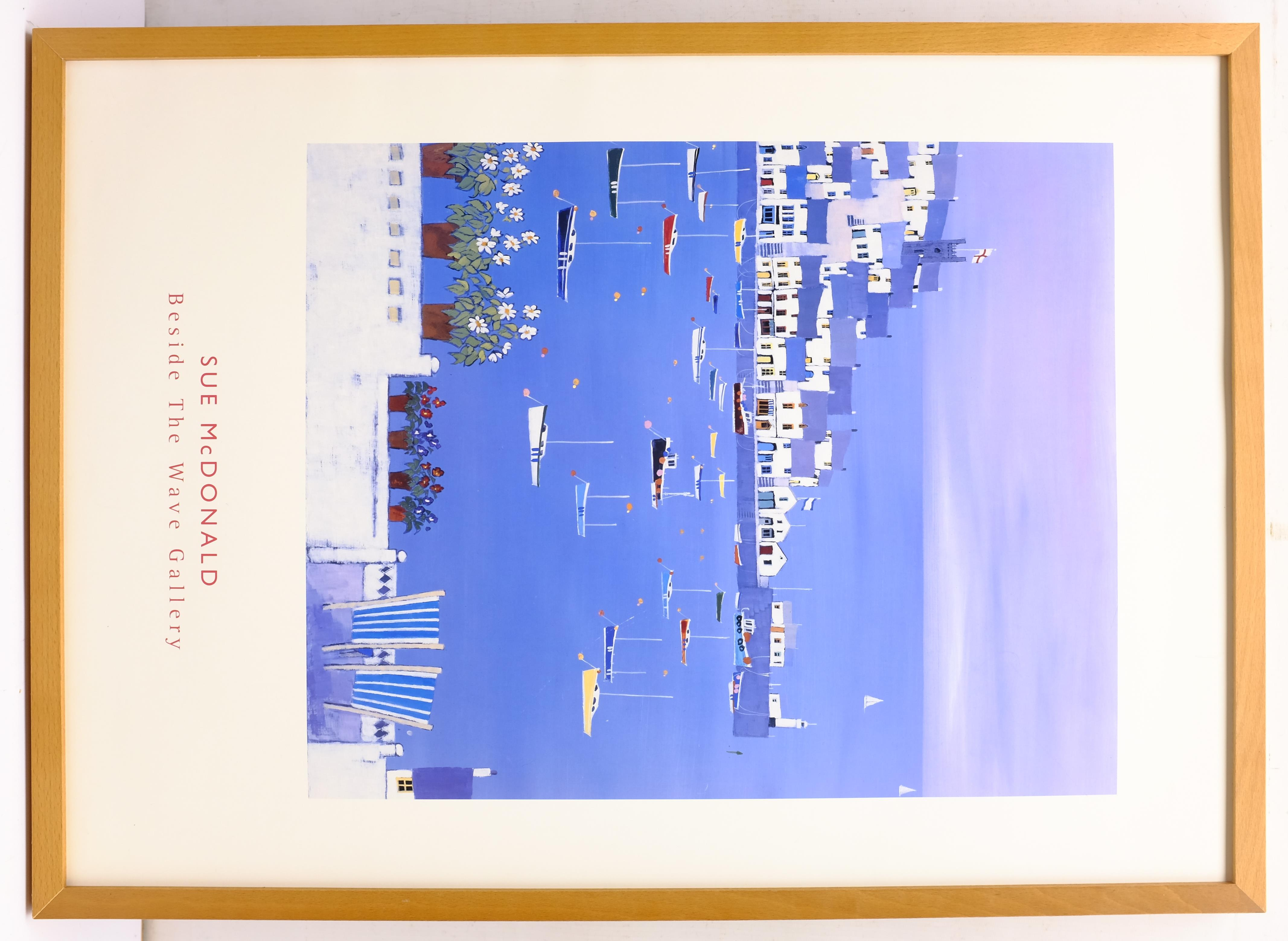 Sue McDonald 'Beside the Wave Gallery', poster print 69cm x 49cm; Scarborough Harbour & Robin Hood's - Image 6 of 6