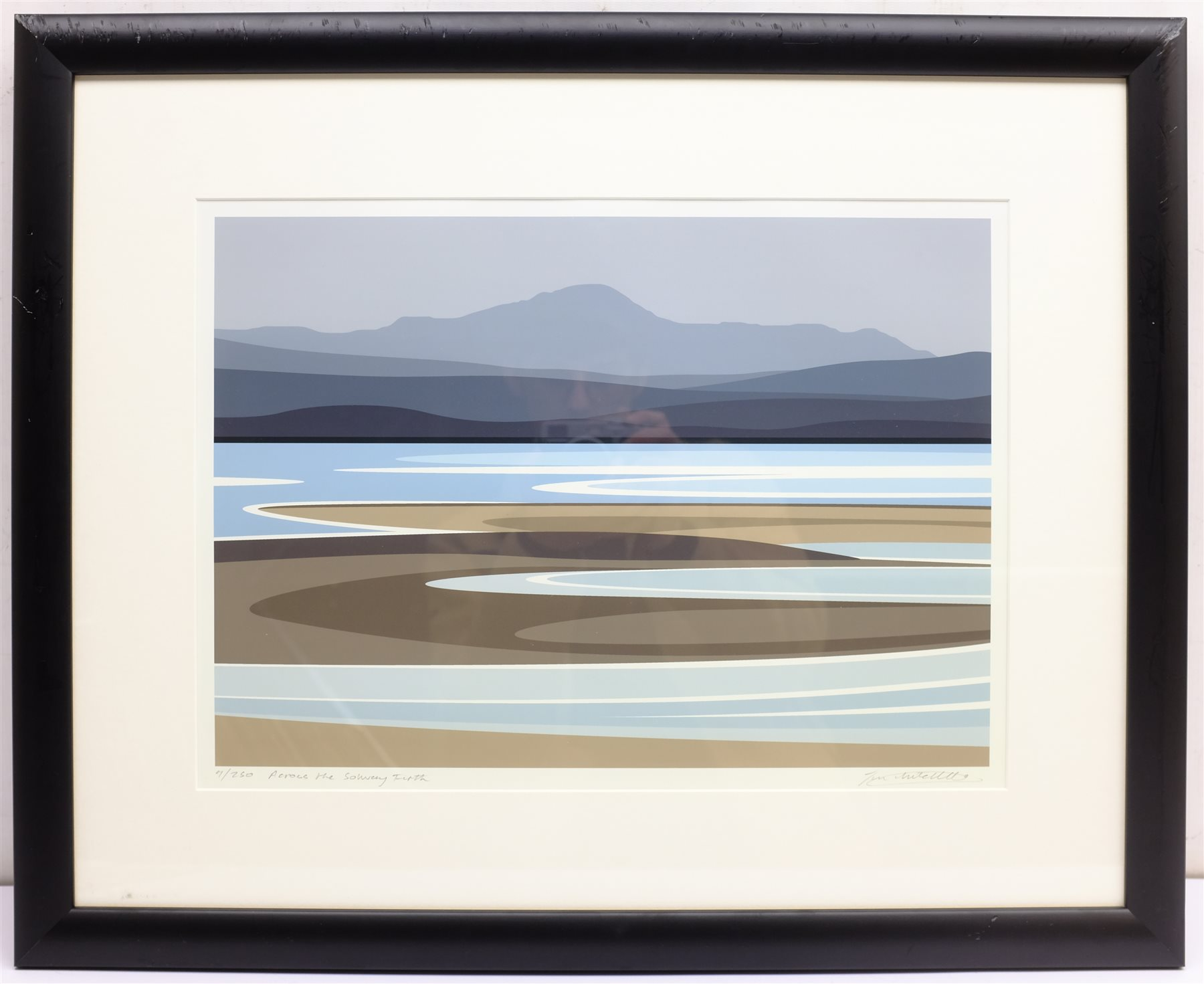 Ian Mitchell (British Contemporary): 'Across the Solway Firth', limited edition digital lithograph s - Image 3 of 4