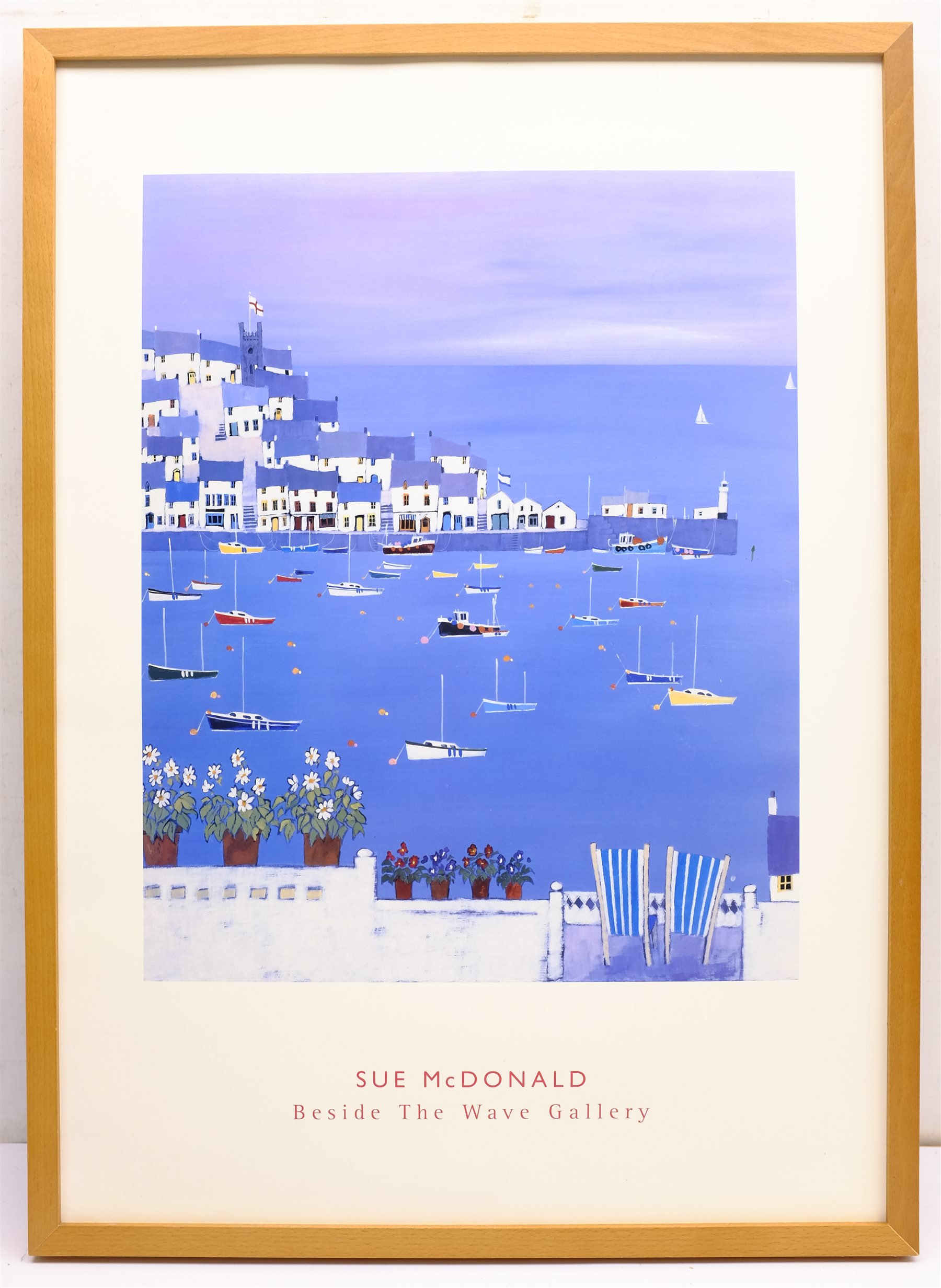 Sue McDonald 'Beside the Wave Gallery', poster print 69cm x 49cm; Scarborough Harbour & Robin Hood's - Image 4 of 6