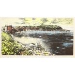 Peter Maslin (British Contemporary): The Spa and South Bay Scarborough, limited edition coloured lit
