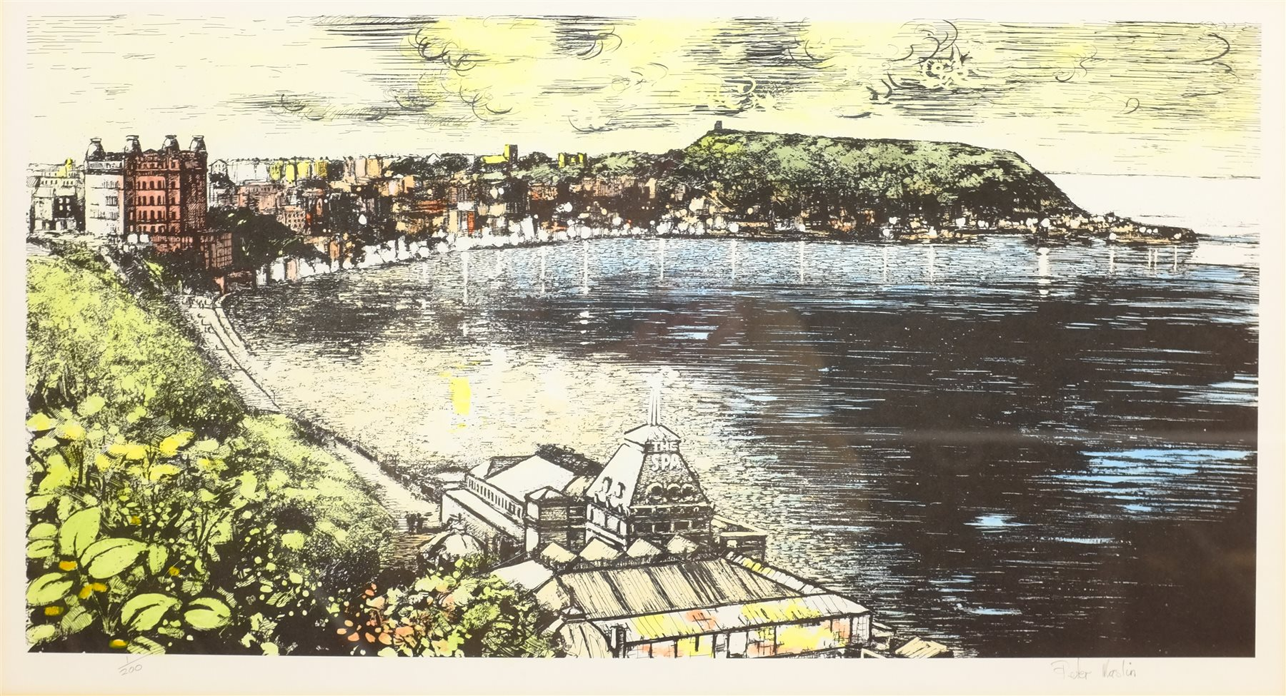 Peter Maslin (British Contemporary): The Spa and South Bay Scarborough, limited edition coloured lit - Image 2 of 8