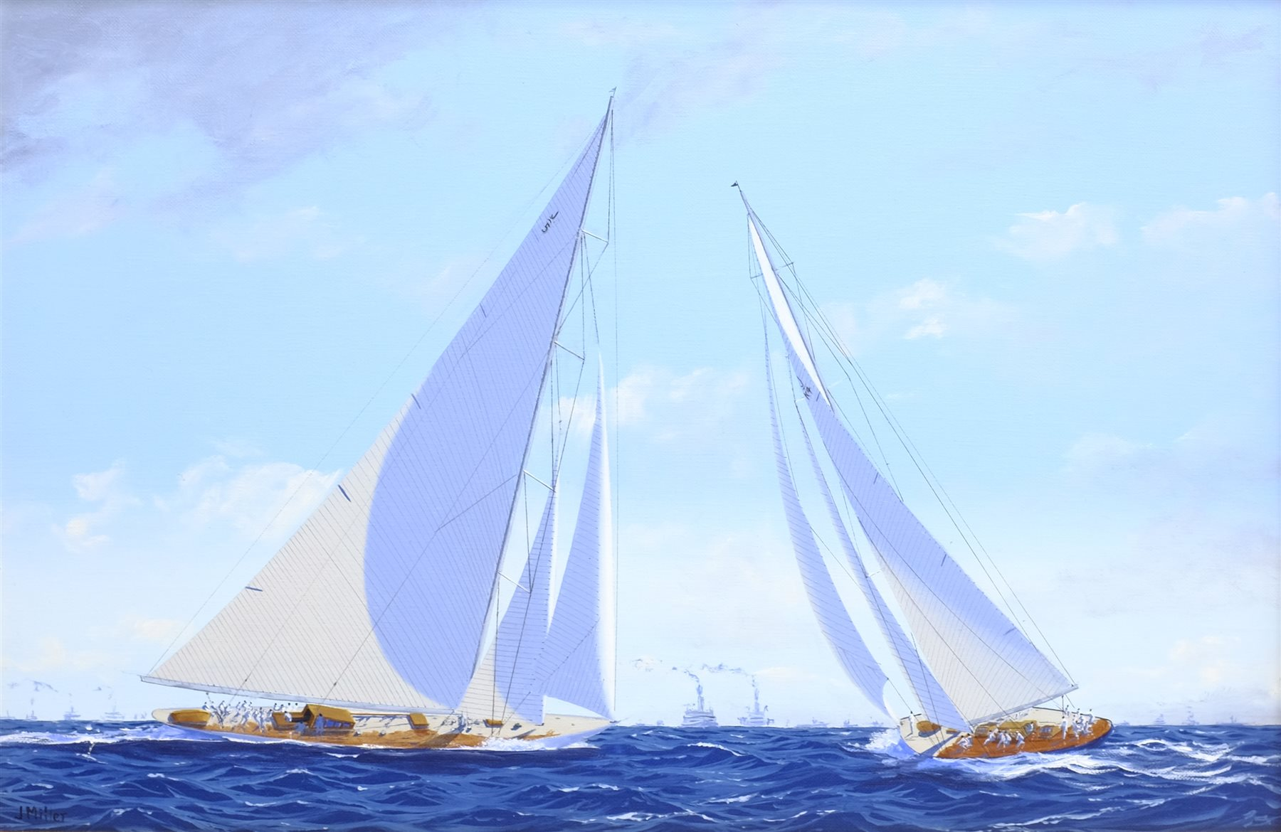James Miller (British 1962-): 'Rainbow' & 'Endeavour' in the America's Cup Series 15th challenge 193 - Image 2 of 4