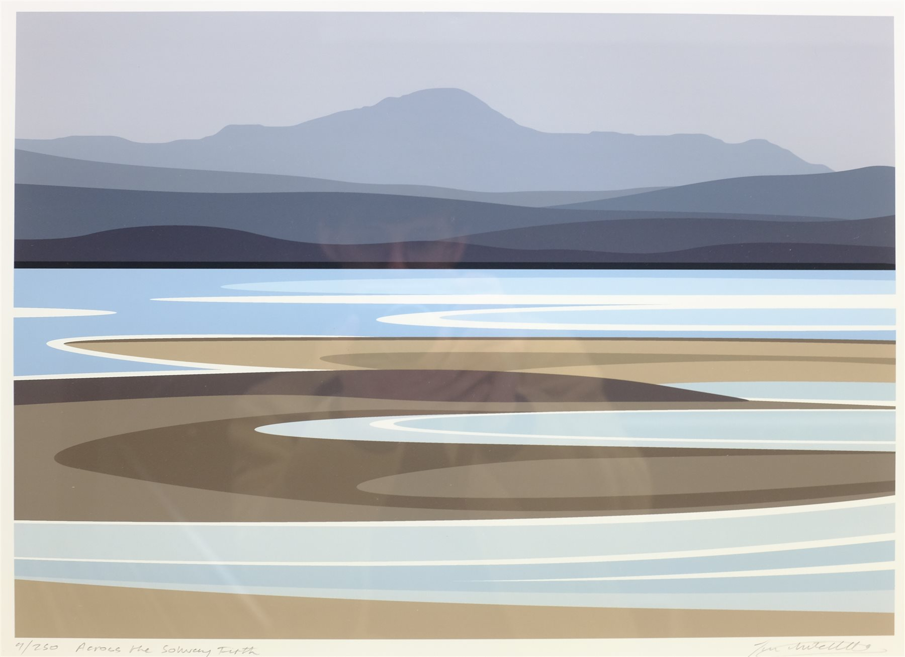 Ian Mitchell (British Contemporary): 'Across the Solway Firth', limited edition digital lithograph s - Image 2 of 4