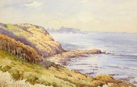 Edward H Simpson (British 1901-1989): 'Scarborough from Cornelian Bay' & 'The Beach Robin Hoods Bay'