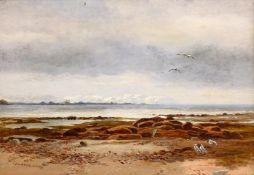 Charles Walter Radclyffe (British 1817-1903): 'Lancaster Sands', oil on canvas signed, original titl