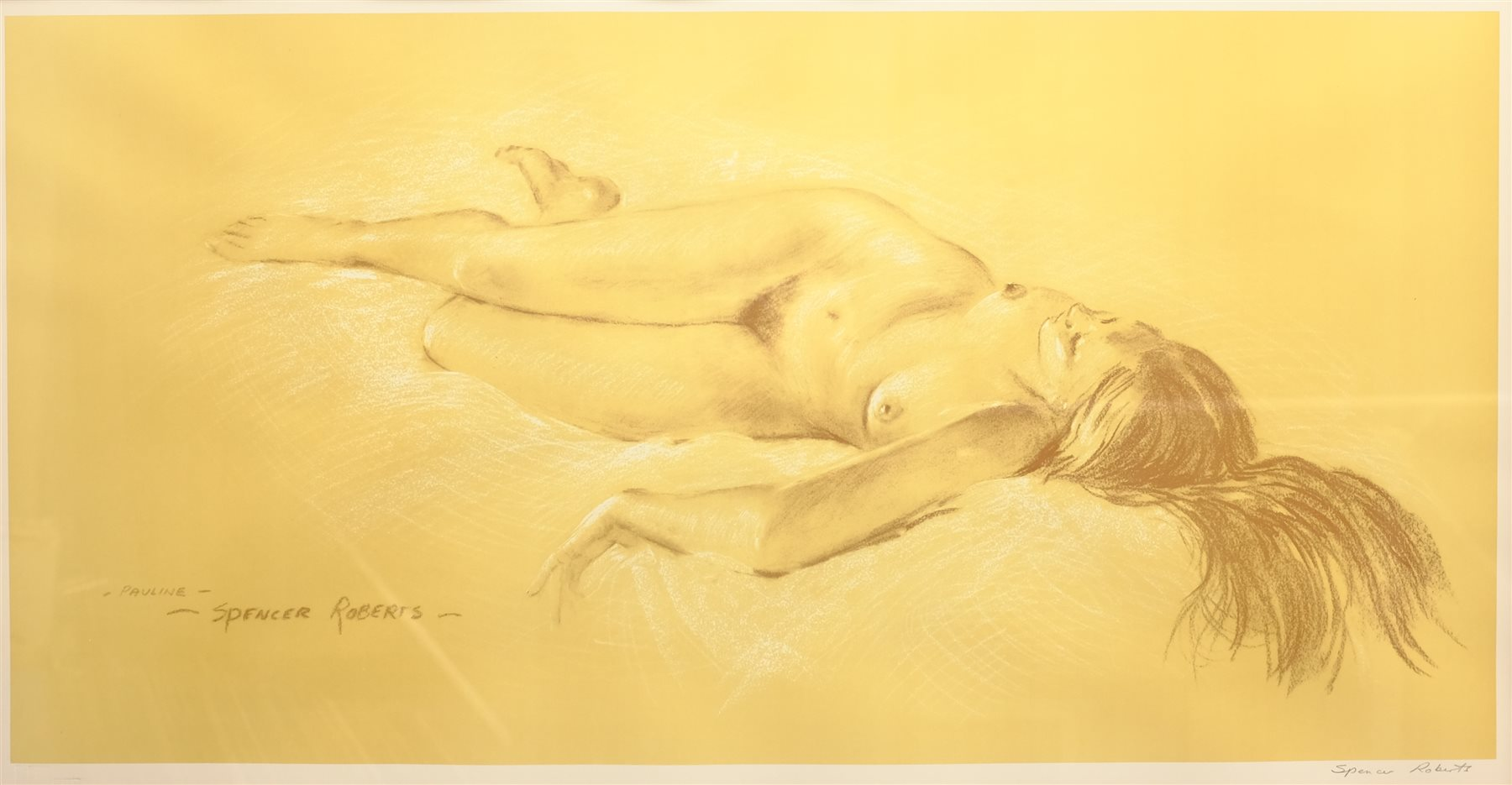 Arthur Spencer Roberts (British 1920-1997): 'Pauline', limited edition print signed in pencil with F - Image 2 of 4