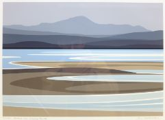 Ian Mitchell (British Contemporary): 'Across the Solway Firth', limited edition digital lithograph s