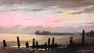 Don Micklethwaite (British 1936-): 'River Humber', acrylic on board signed, titled and dated July '8