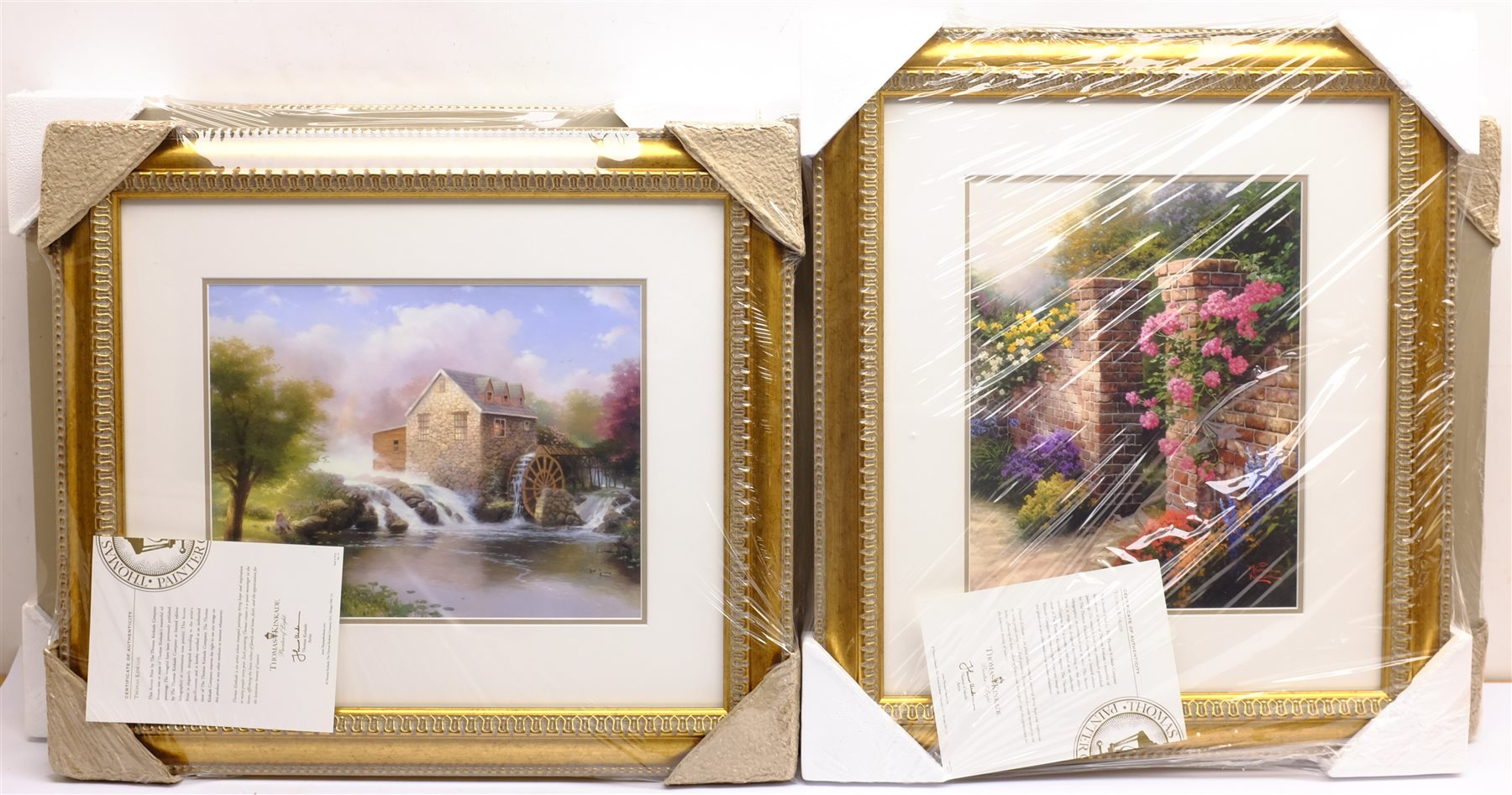 After Thomas Kinkade (American 1958-2012): Cottage and River scenes, set of six colour prints 28cm x - Image 3 of 4