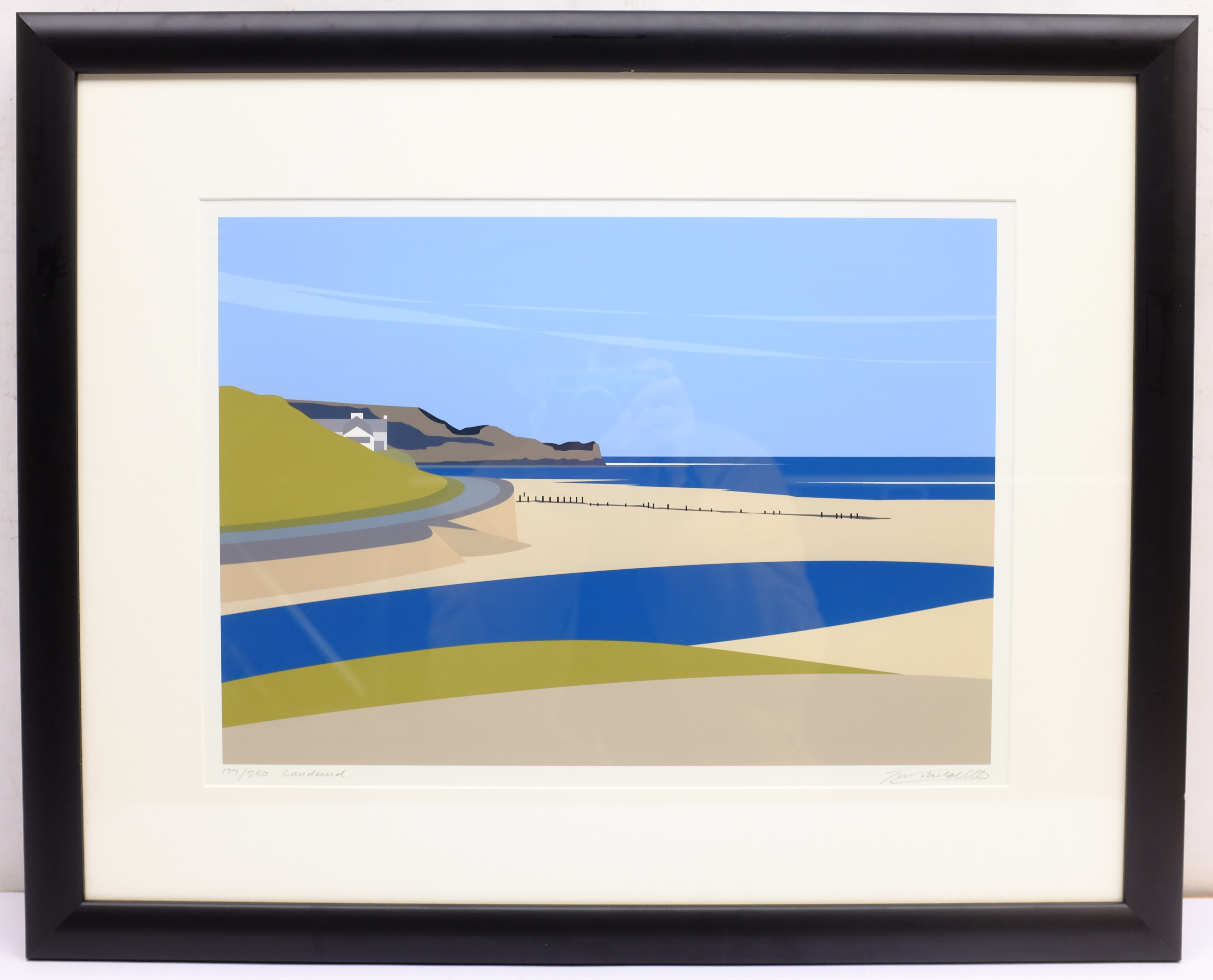 Ian Mitchell (British Contemporary): 'Sandsend', limited edition digital lithograph signed, titled a - Image 4 of 4