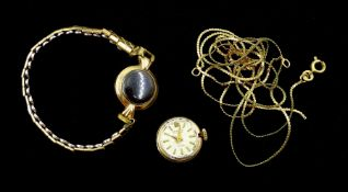 Rodania 9ct gold ladies wristwatch