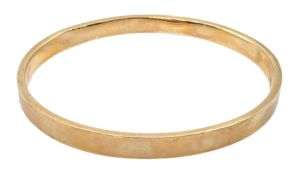 Early 20th century rose gold bangle