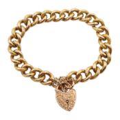 9ct rose gold curb link bracelet