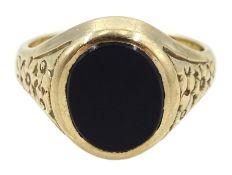 9ct gold black onyx signet ring