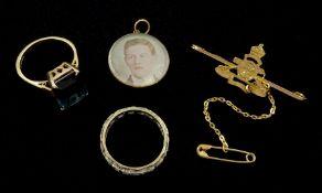 Gold stone set full eternity ring