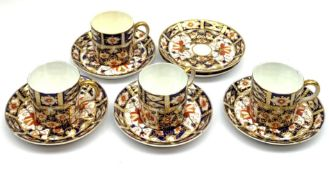 Four Royal Crown Derby coffee cans