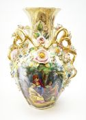 A large Continental vase