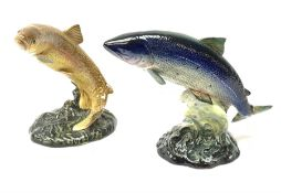 Two Beswick models of fish