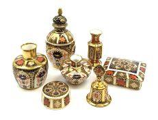 A selection of Imari pattern Royal Crown Derby
