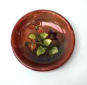 A Moorcroft flambe dish