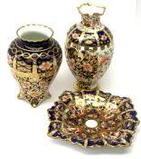 Three pieces of Imari pattern Royal Crown Derby