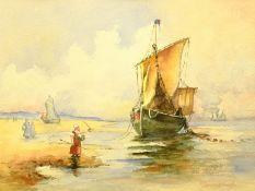 Johan Barthold Jongkind (Dutch 1819-1891): Unloading on the Shore 'Antwerp'