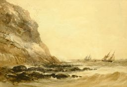 Henry Barlow Carter (British 1804-1868): Shipping in Distress off the Coast
