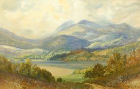 George Trevor (British fl.1920-1940): Loch with Mountains Beyond